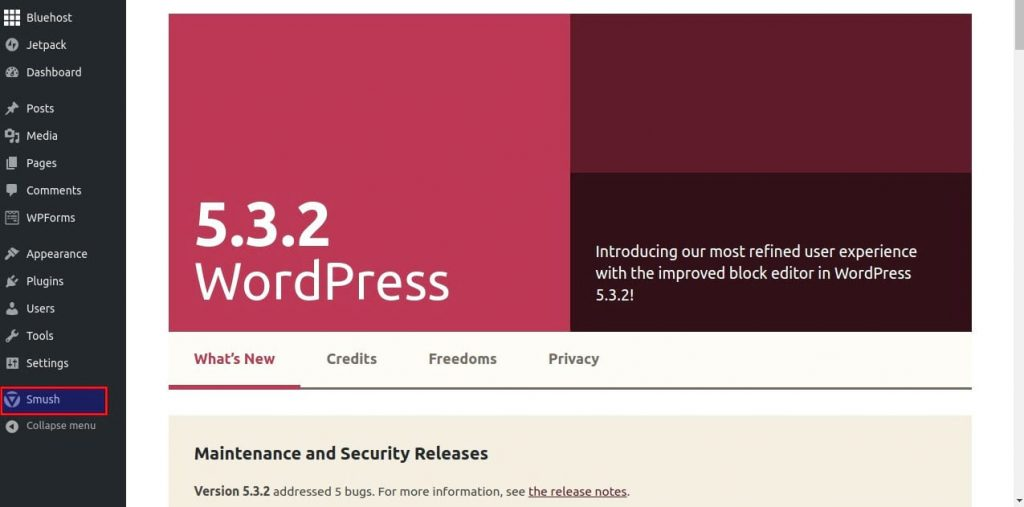 steps to compressing images for wordpress using smush smush dashboard