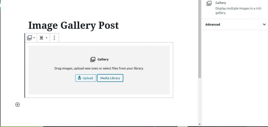 how to use wordpress gallery custom links media library