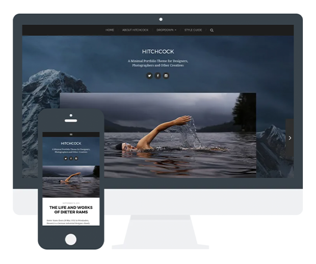 best photography wordpress themes hitchcock