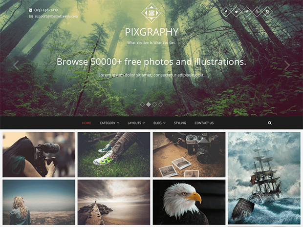 best photography wordpress themes pixgraphy