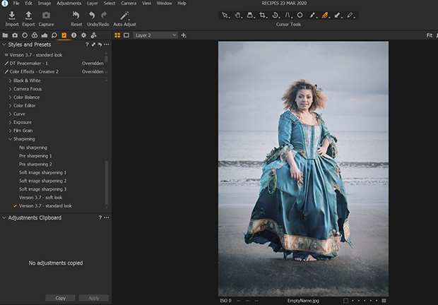 capture one styles and presets