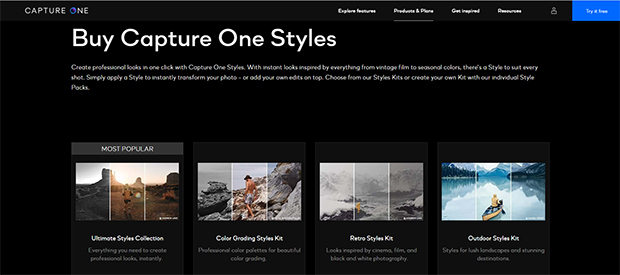 buy capture one styles