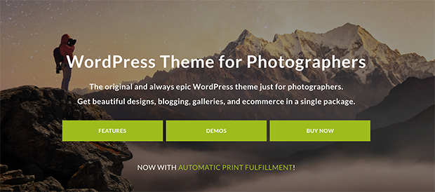 Photocrati photography theme for WordPress