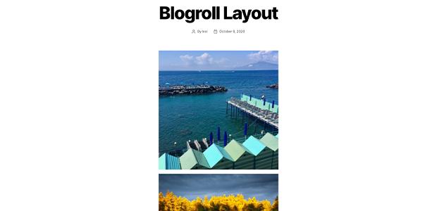 Envira Gallery Blogroll gallery layout