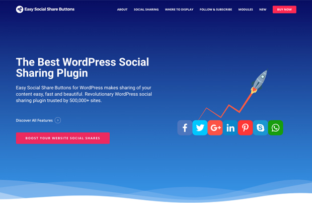 best social media share plugins for WordPress Easy Social Share Buttons