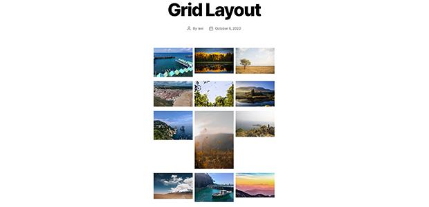 Envira Gallery Grid gallery layout