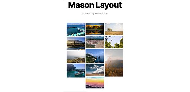Envira Gallery Mason gallery layout