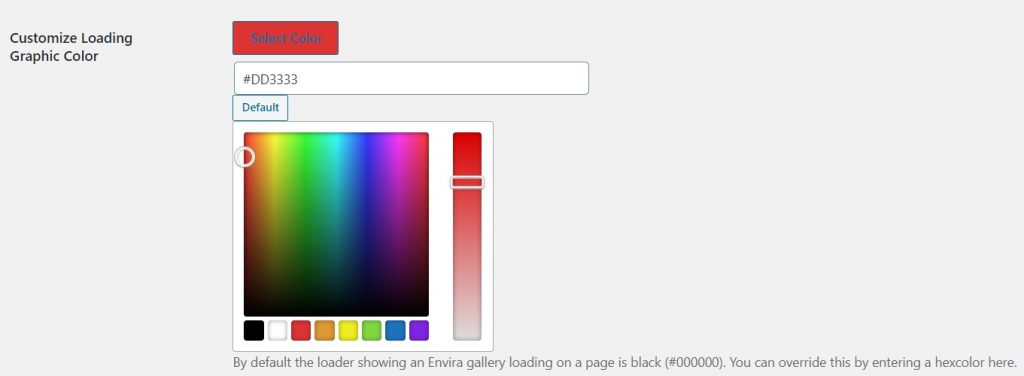 Customize Loading Graphic Color