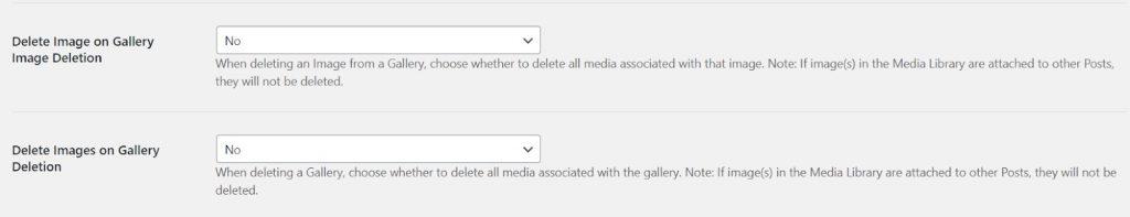 Delete Image on Gallery Image Deletion