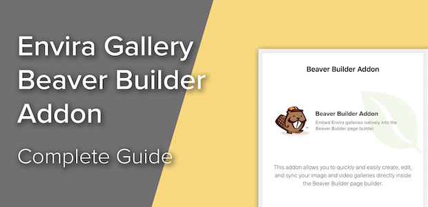 Adding Image Galleries to Your Website Using the Beaver Builder Addon
