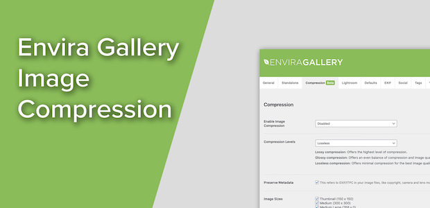 Speed up your website and galleries with the Envira Gallery Image Compression Tool